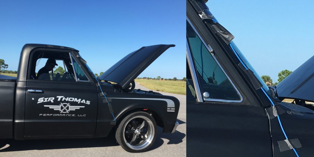 Watson Wu used Pro Gaff® to tape down cables for sound effect capture on this truck